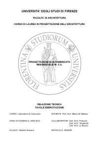 Relazione esercitazione NTC Laboratorio di Costruzioni 2 Prof.Mario De Stefano
