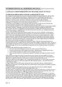 Riassunto Metodi E Tecniche Del Servizio Sociale - Rif: Introduzione al servizio sociale, Dal Pra e Ponticelli