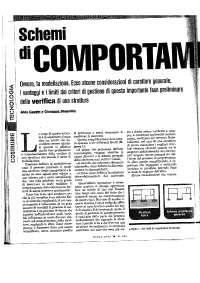 MODELLAZIONE STRUTTURALE - SCHEMI DI COMPORTAMENTO