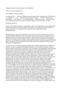 Esempio di redazione di un Atto penale - Atto d'appello