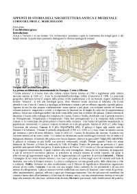 APPUNTI DI STORIA DELL'ARCHITETTURA ANTICA E MEDIEVALE - Prof. Marchegiani