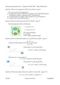 Telecommunication Electornics -Question and Answers - L1b - Prof. Del Corso