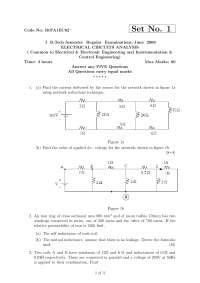 ELECTRICAL CIRCUITS ANALYSIS, exam papers