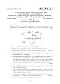 BASIC ELECTRICAL ENGINEERING, exam papers
