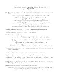 Calculus III - Prof. Ferrarotti - a.y. 2009/10 - Exercises VI - Vector elds and line integrals
