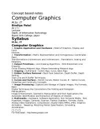 Computer Graphics, lecture notes, UPTU
