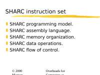 Embedded Systems  Programming, SHARC instruction set (21)