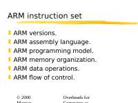 Embedded Systems Programming, ARM instruction set 20