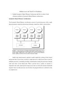 ADVANCED COMPUTER ARCHITECTURE Notes - Multiprocessors and Thread-Level Parallelism,  1
