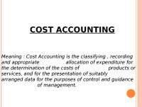 Accounting - Cost Accounting