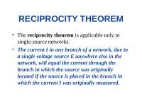Electronic Devices and Circuit - Reciprocity Theorm
