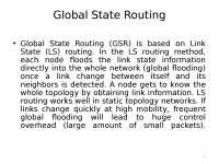 Mobile Computing - Global State Routing