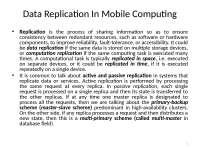 Mobile Computing - Data Replication In Mobile Computing