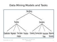Data Minining - Models and Tasks
