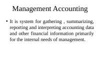Management Accounting - Lecture - Accounting - Dr. Kalra