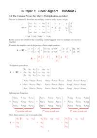 Linear Algebra, Lecture Notes - Mathematics - 2