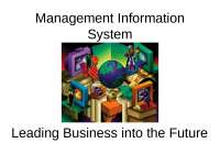Introduction to MIS - Lecture - Management Information System - Prof. Goel