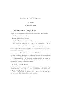 Enternal Combinatorics, Lecture Notes - Engineering - Prof IB Leader