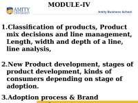 Product Management - Lecture - Marketing Management
