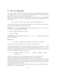 Numerical Linear Algebra, Lecture Notes - Mathematics -  3