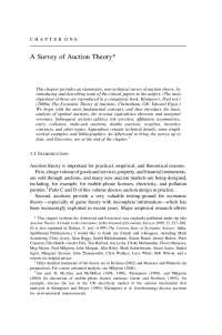 Auctions Theory and Practices, Lecture Notes - Economics - 1