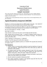 Applied Biostatistics, Lecture Notes - Mathematics - 1