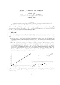 Vector and Mathematics, Lecture Notes - Mathematics - Prof Richard Earl