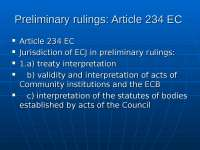 Preliminary rulings - ARTICLE234 DOC - Lecture - EU