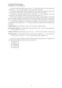 Constarint Programming, Exercises - Computer Science 1