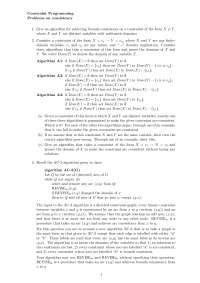 Constarint Programming, Exercises - Computer Science 2