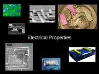 Material Engineering - Lecture - Electrical Properties