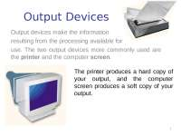 Output and Storage Devices - lecture - Introduction to progamming - ICP01