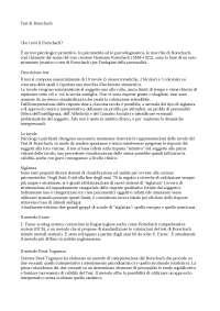 Psicologia Clinica, Tesina riassuntiva sul test di Rorschach
