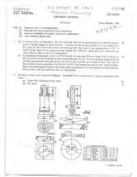 Test Paper - Machine Drawing - Mumbai University - Mechanical Engineering - 3rd Semester - 2008