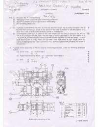 Test Paper - Machine Drawing - Mumbai University -Mechanical Engineering - 3rd Semester - 2009