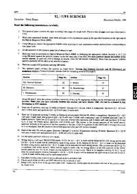 Entrance Paper - Life Sciences - Graduate Aptitude Test in Engineering (GATE) - 2010