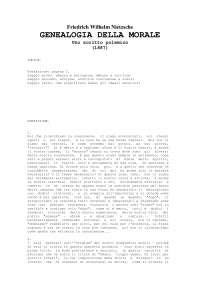 (Ebook - Ita - Filosofia) Friedrich Nietzsche - Genealogia Della Morale