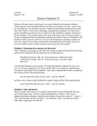 Introduction to computer science Handout 27