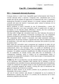 I CONVERTITORI STATICI - Appunti - Meccatronica - L. Taponecco - Capitolo 3