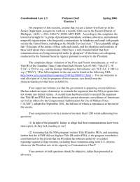 Constitutional Law Exercise 1 - Law