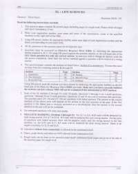 Entrance Paper - Life Sciences - Graduate Aptitude Test in Engineering (GATE) - 2008