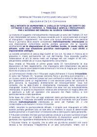 """SENTENZA DEL CASO """"JEGO E QUERE' ET CIE S.A"""" - Appunti - Diritto Processuale Comunitario - 2002"""