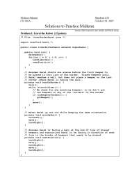 Solution of Practice Midterm Examination 24/10/2007 - Section Handout - Programming Methodology- 28