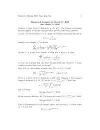Complex Analysis 18, Exercises - Mathematics