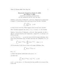 Complex Analysis 17, Exercises - Mathematics