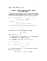 Complex Analysis 1, Exercises Solution - Mathematics
