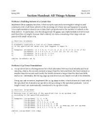 Section Handout: All Things Scheme - Programming Paradigms - 33