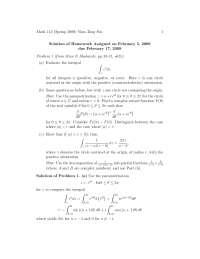 Complex Analysis 3, Exercises Solution - Mathematics