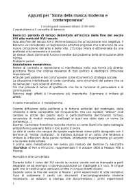 """Appunti per """"Storia della musica moderna e contemporanea"""", Guido Salvetti"""
