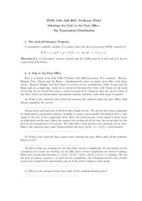 Exponential Distribution , Lecture Notes - Mathematics